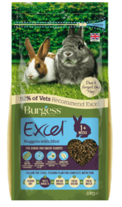 Excel Junior & Dwarf Rabbit Nuggets with Mint