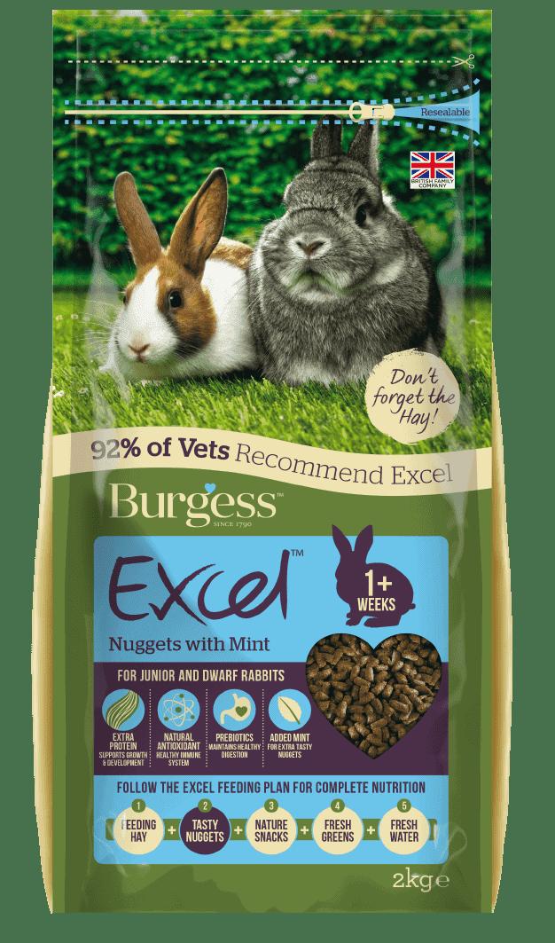 Excel Junior & Dwarf Rabbit Nuggets with Mint