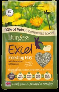 Excel Feeding Hay with Dandelion & Marigold